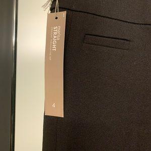 NWT loft Marisa straight black pants size 4